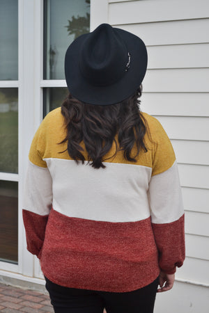 Finally Fall Colorblock Sweater
