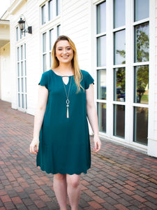 Becca Scalloped Dress