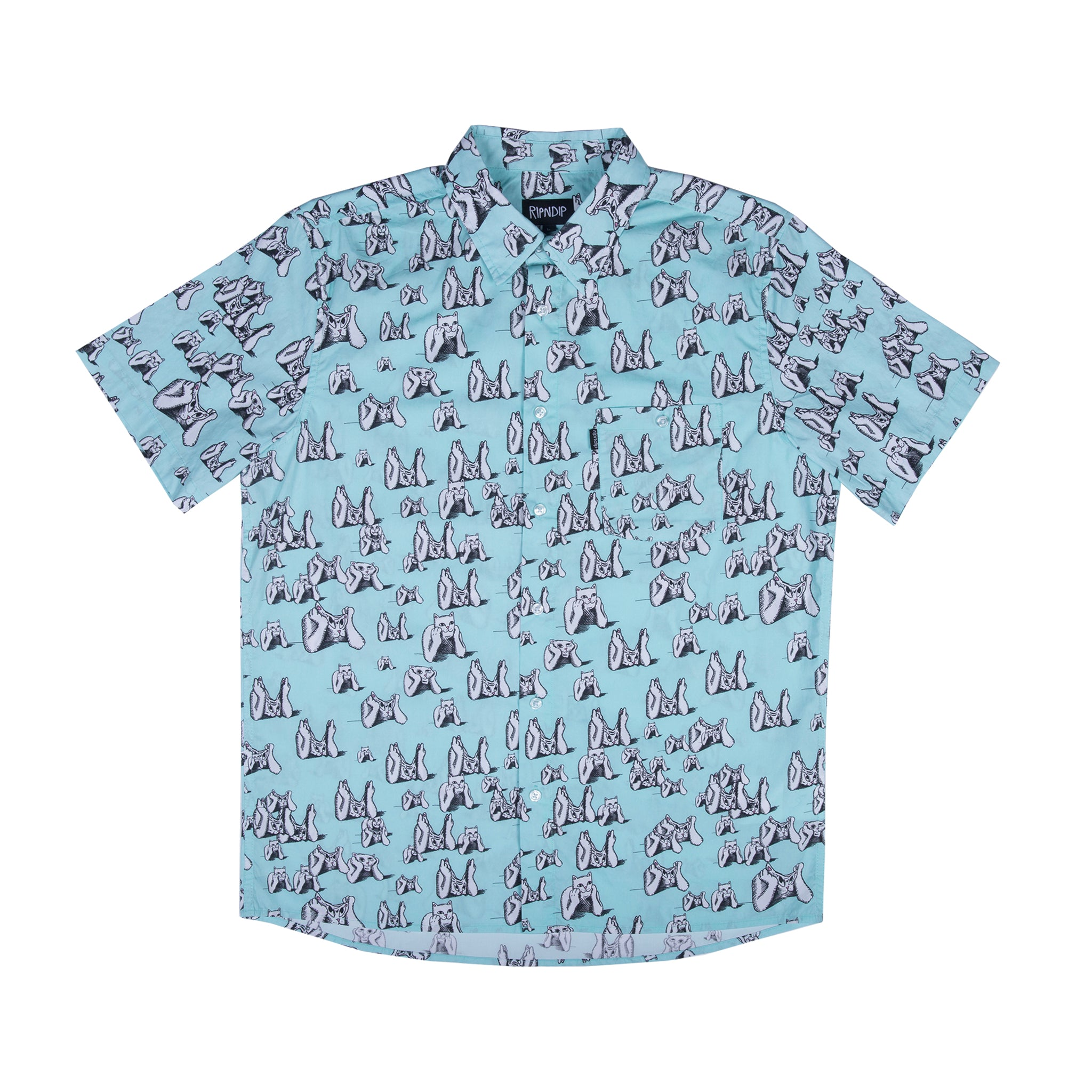 Stoner S/S Button Up (Mint)