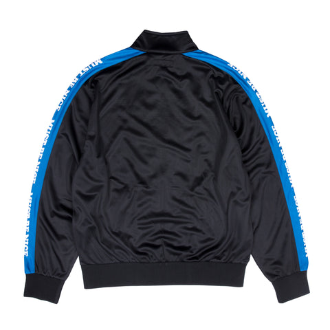 Must Be Nice Track Zip-Up Jacket (Black/Blue)