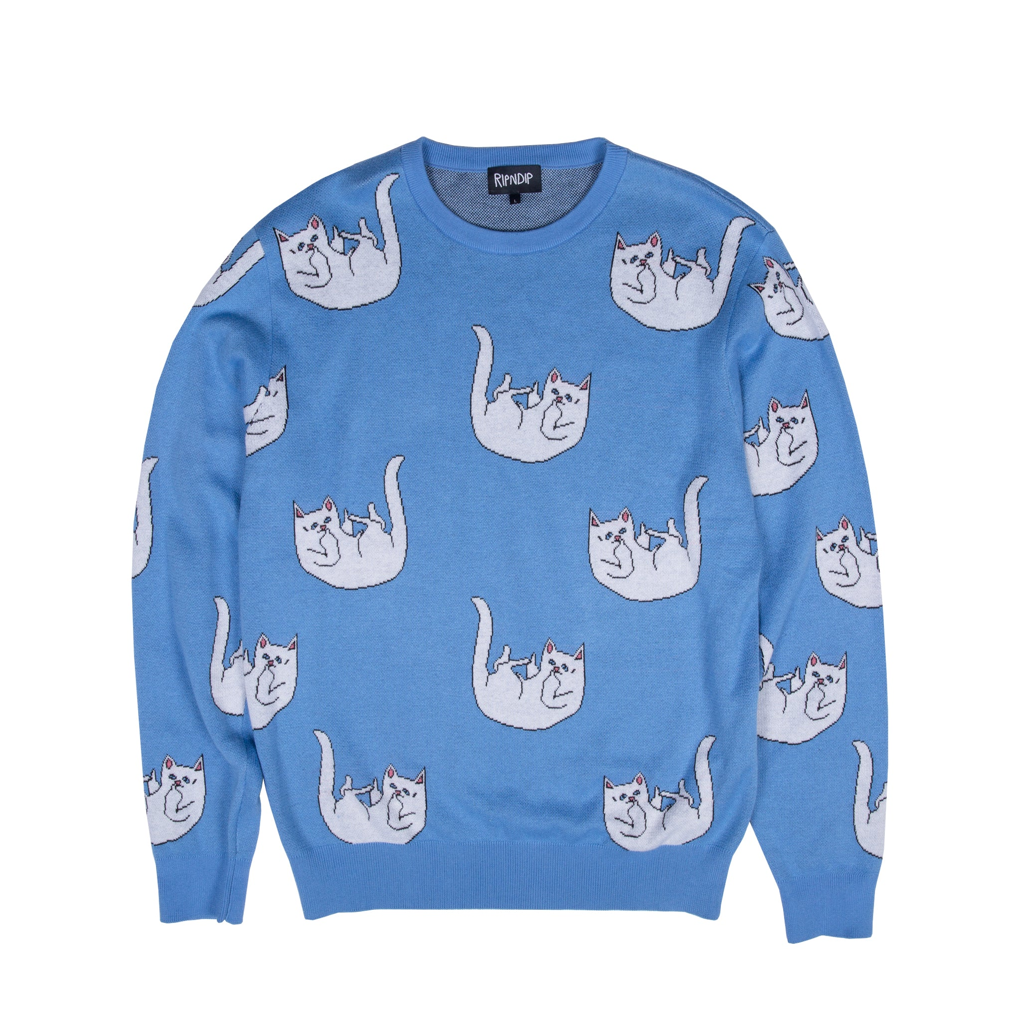 Falling For Nermal Knit Sweater (Blue)