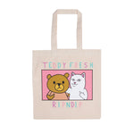 Teddy Fresh BFF Tote Bag (Natural Canvas)