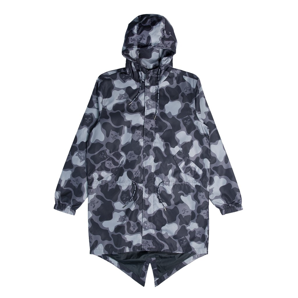 Nerm Camo Fishtail Parka (Blackout Camo)