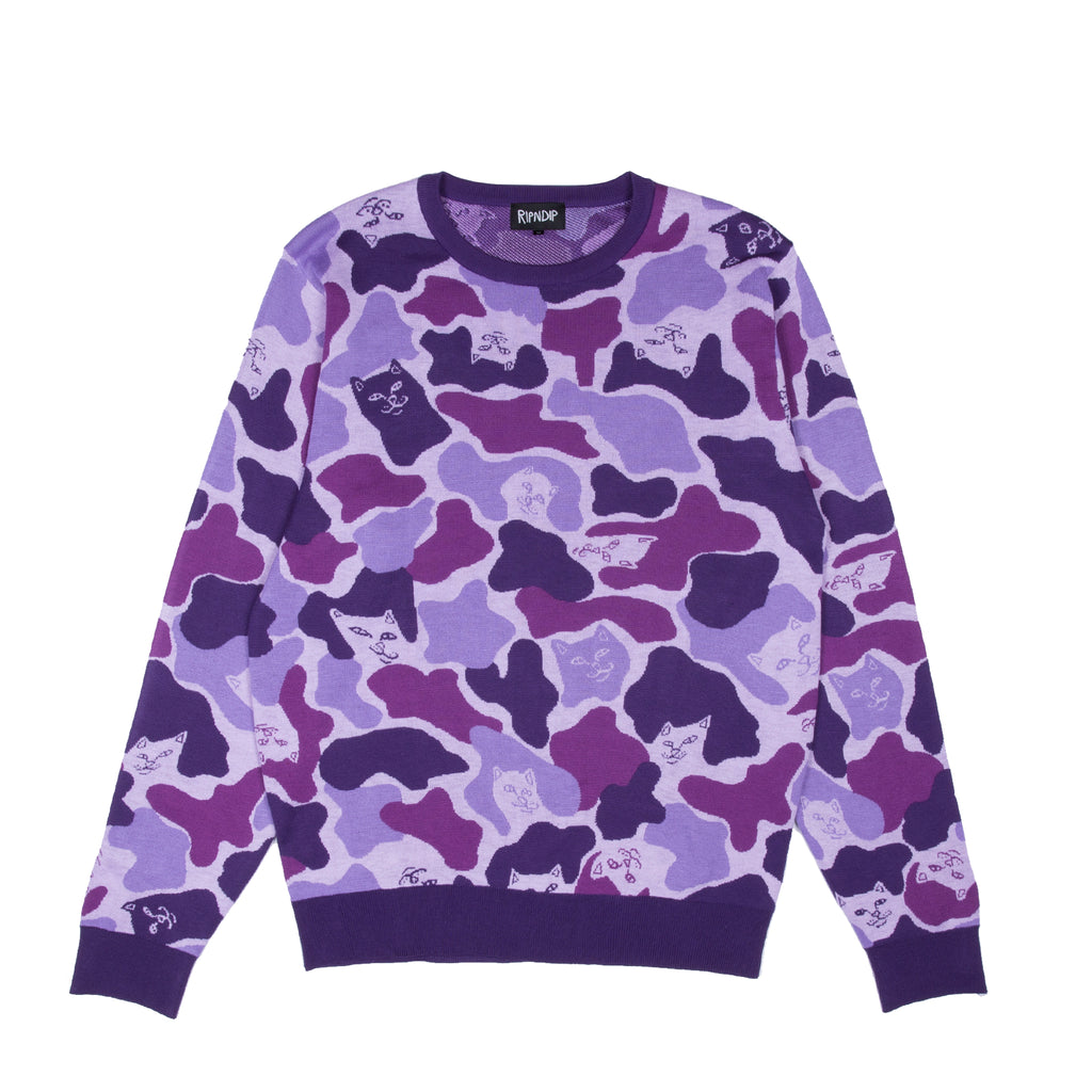 Nermal Camo Sweater (Purple Camo)