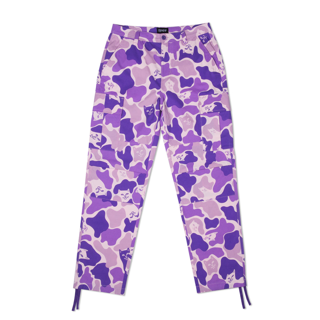 Nermal Camo Cargo Pants (Purple)