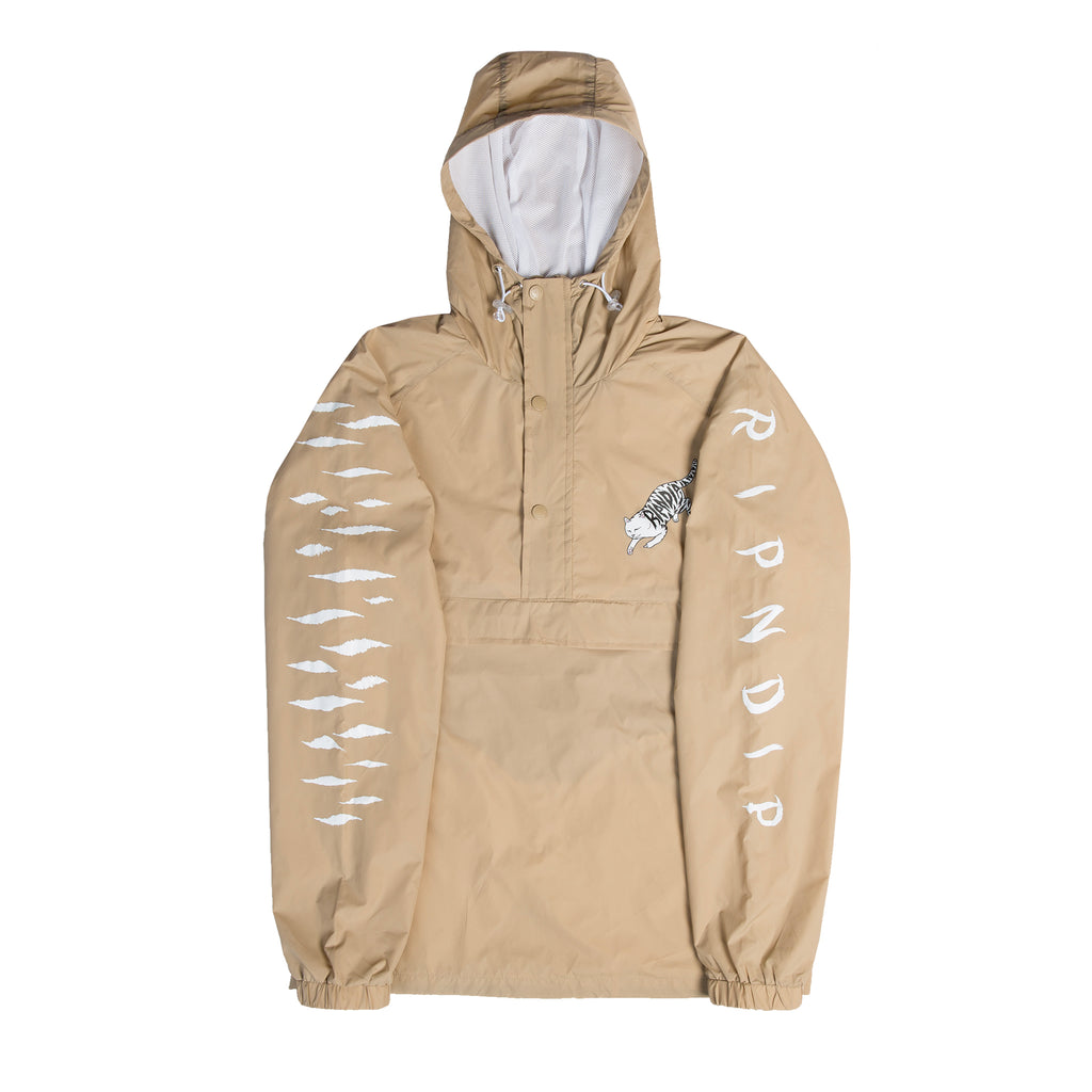 Tattoo Nerm Half Zip Anorak Jacket (Tan)