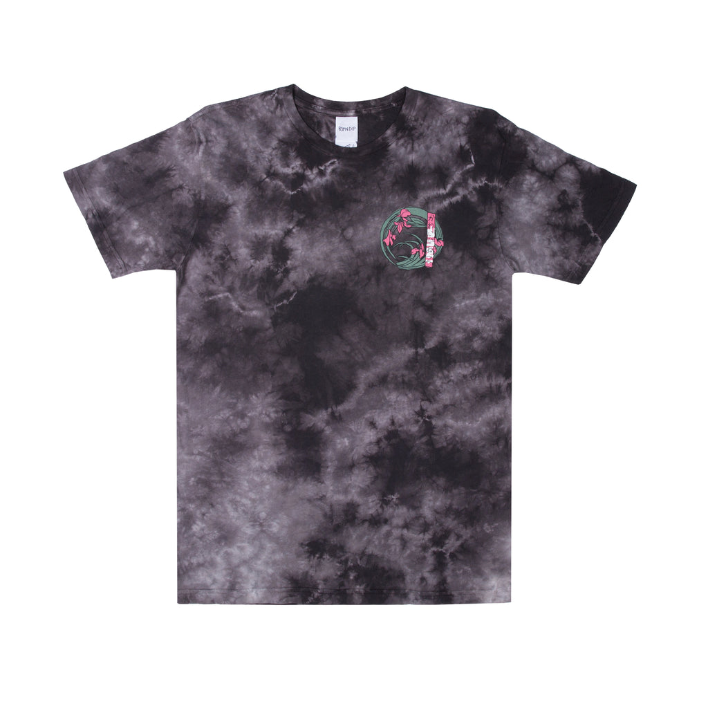 Warrior Tee (Black / White Tie Dye)