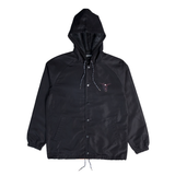 Hell Pit Hooded Coaches Jacket (Black)