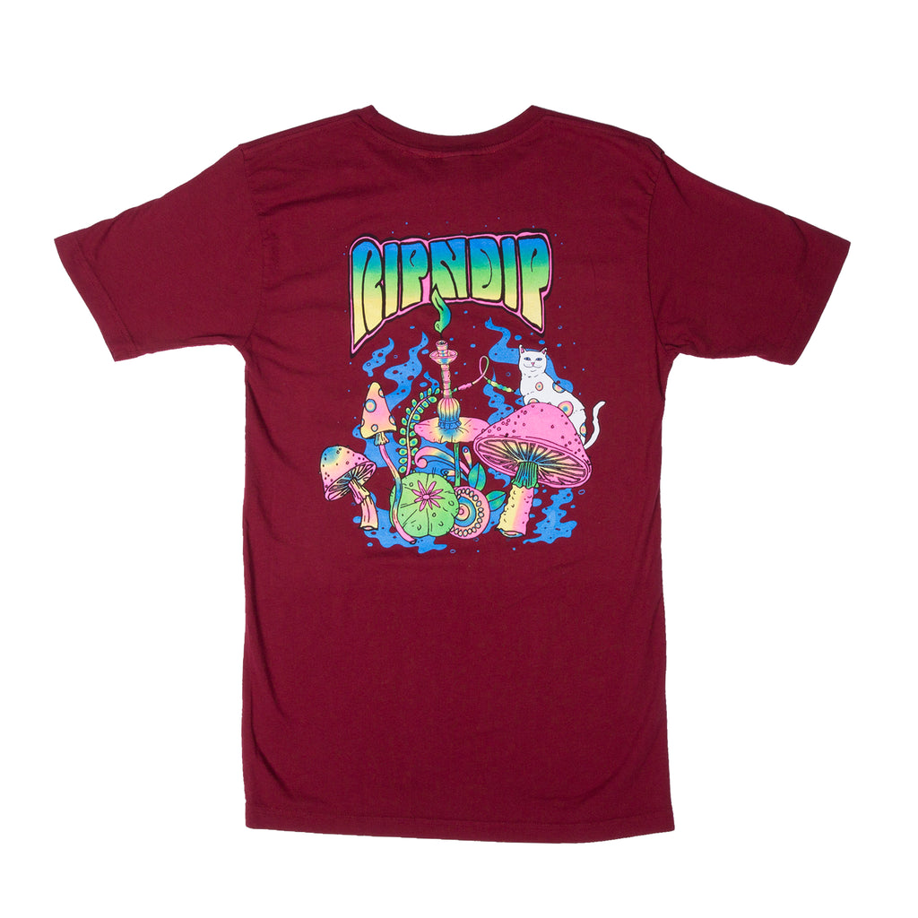 Psychedelic Nermal Pocket Tee (Burgundy)