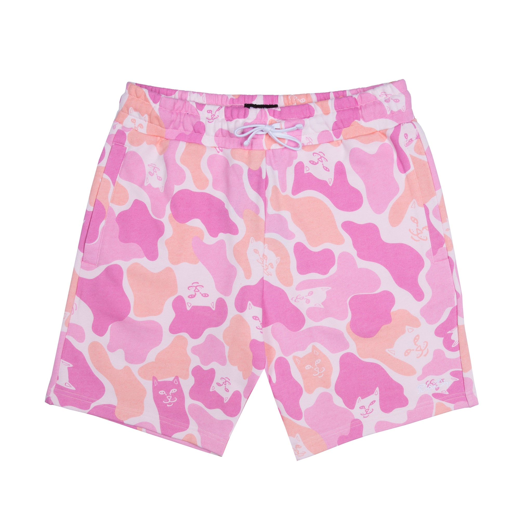 Invisible Pink Camo Sweat Shorts (Pink)