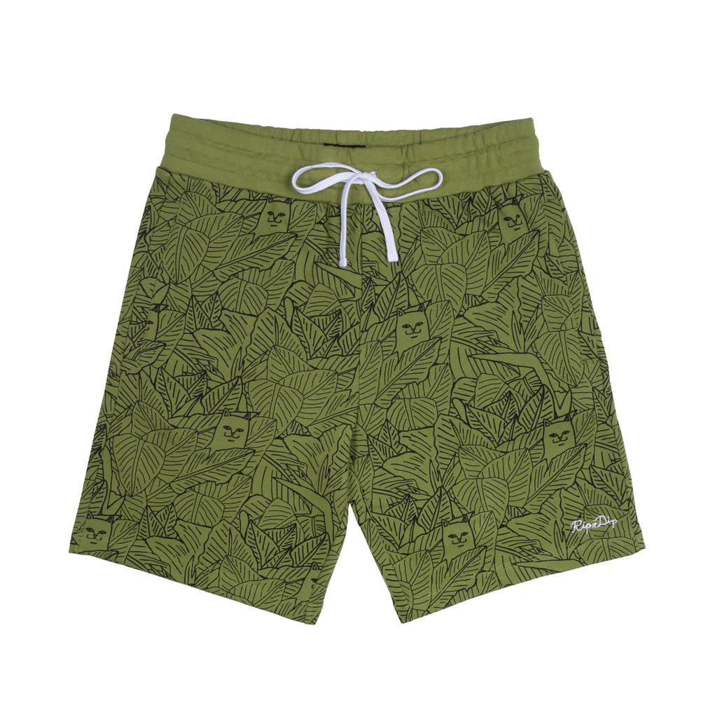 Nermal Leaf Sweat Shorts (Olive)
