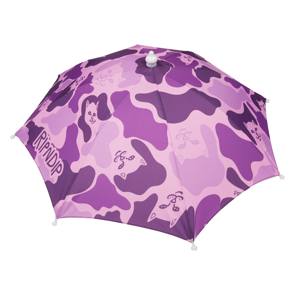 Camo Umbrella Hat (Purple)