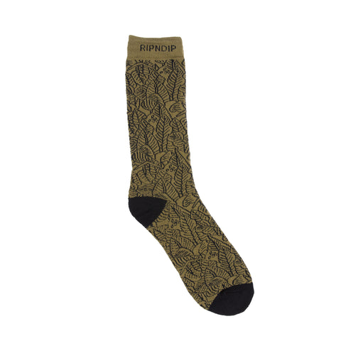 Safari Nerm Socks (Olive)