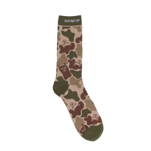 Nerm Camo Socks (Army Green)