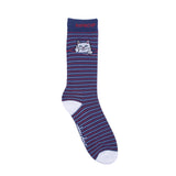 Peek A Nermal Socks (Navy / Red)