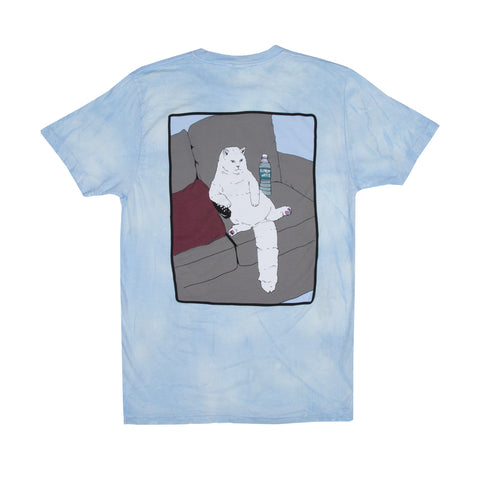 Couch Potato Tee (Blue / White Mineral Wash)