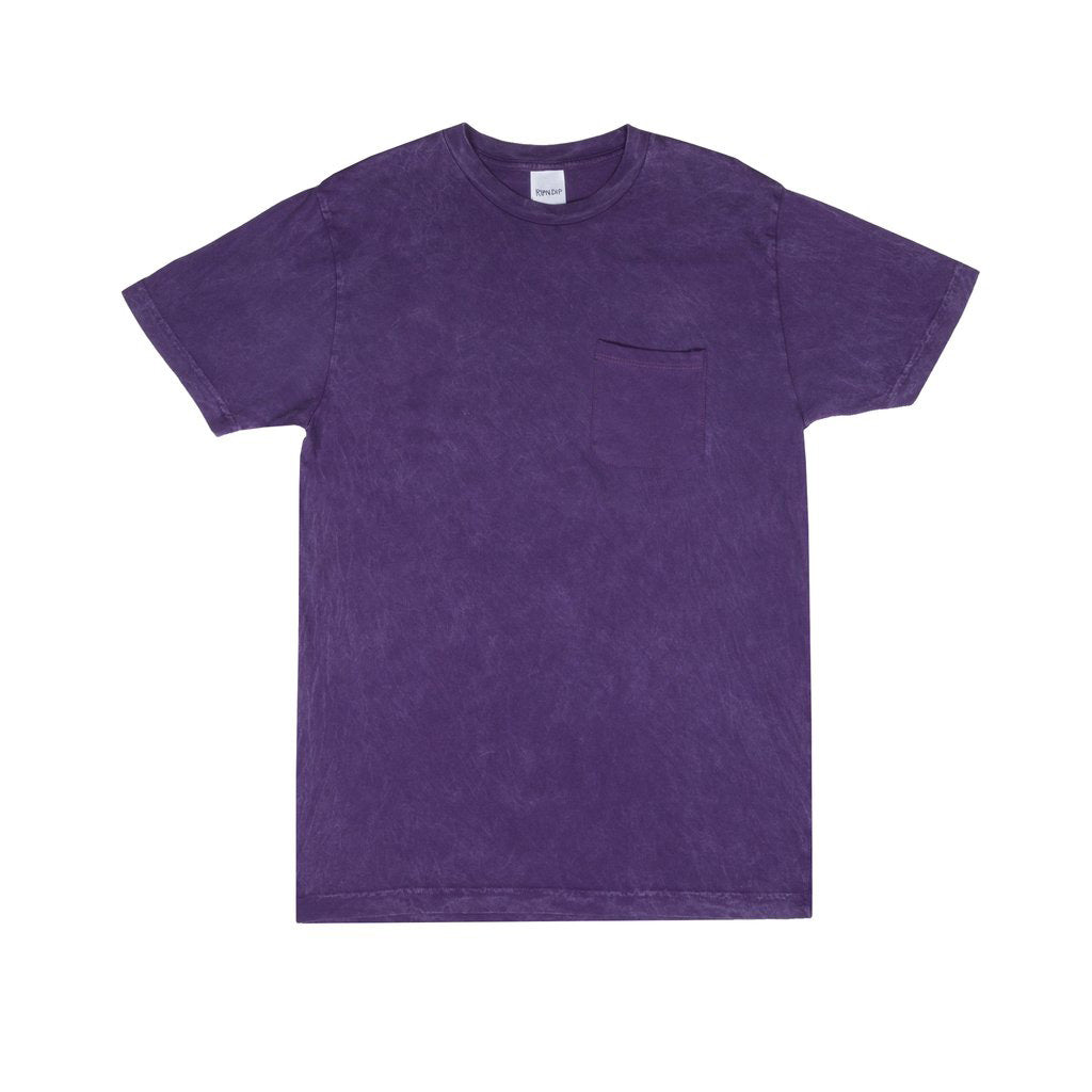 World On Fire Tee (Purple Mineral Wash)