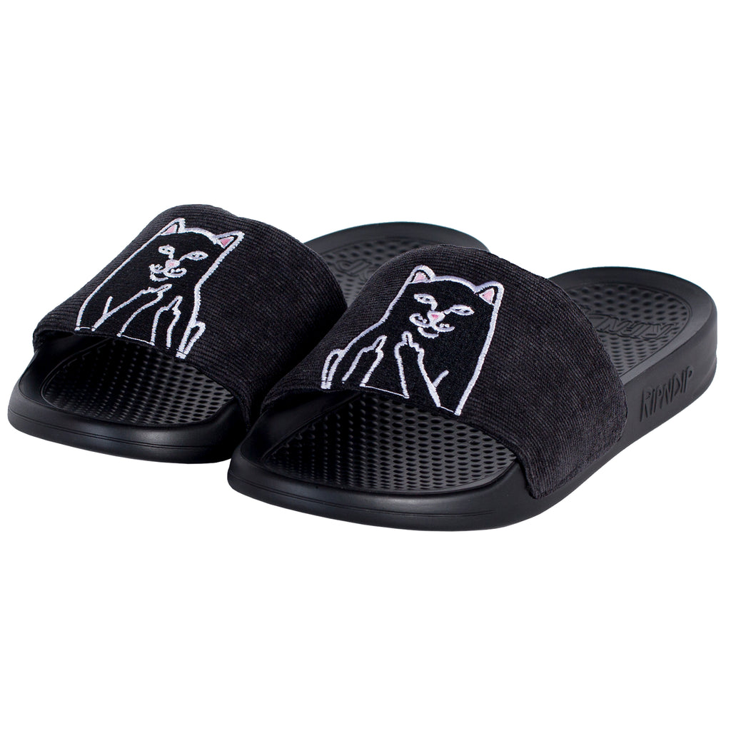 Lord Jermal Slides (Black Corduroy)