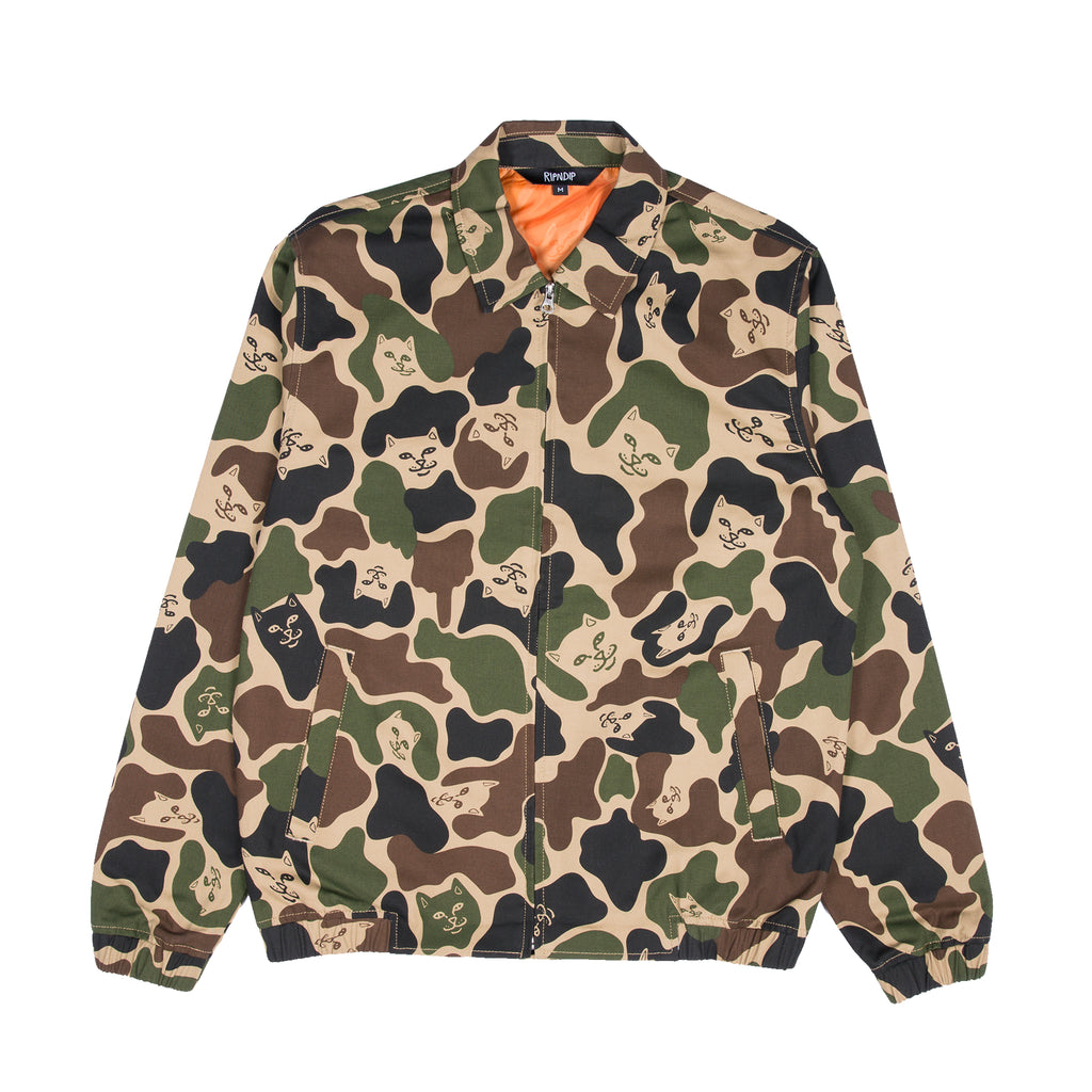 Nermal Camo Cotton Coach Jacket (Army Camo)