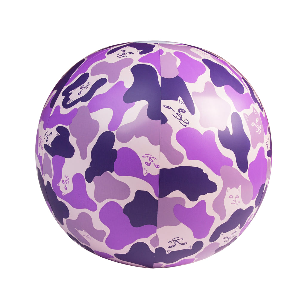 Camo Beach Ball (Purple)