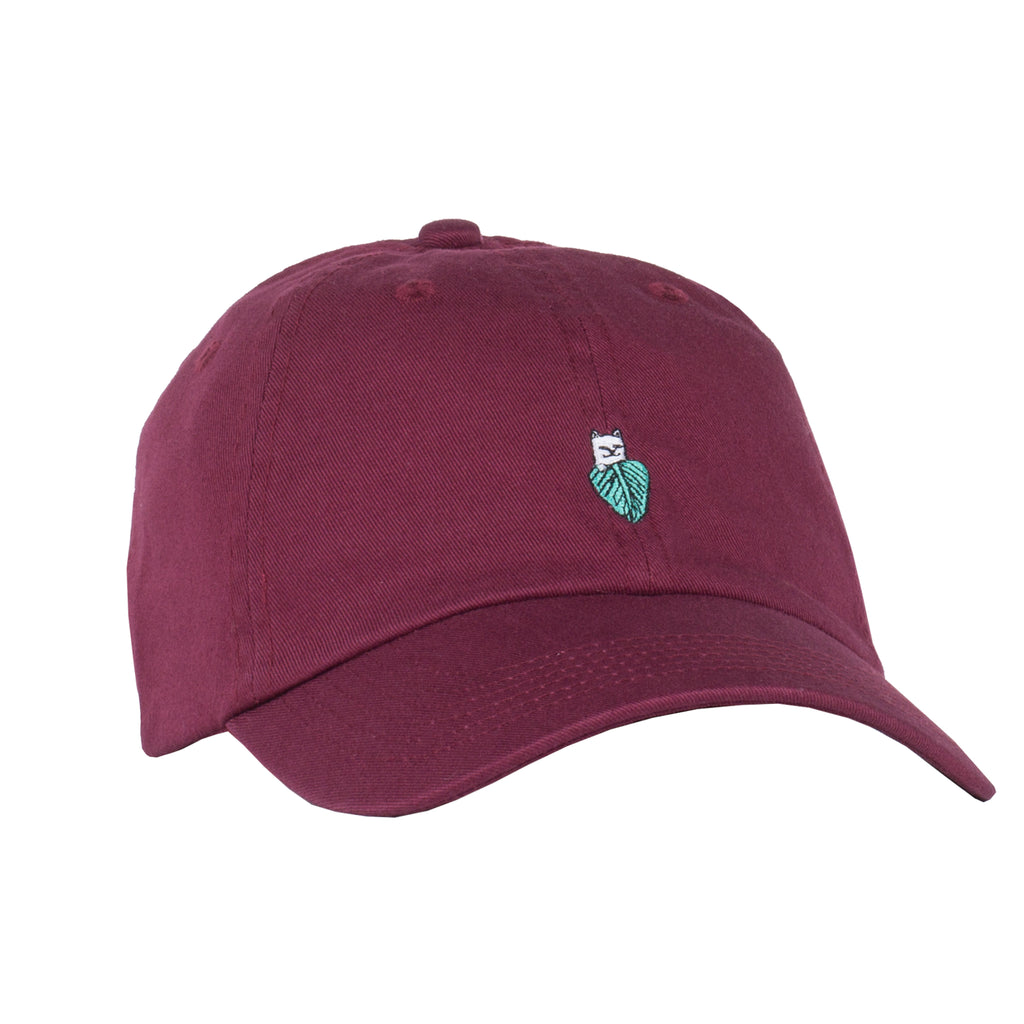 0797c23035b64 Nermal Leaf Dad Hat (Maroon)