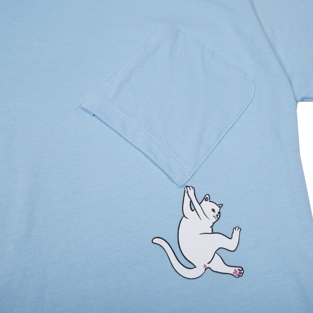 Hang In There Pocket Tee (Baby Blue)