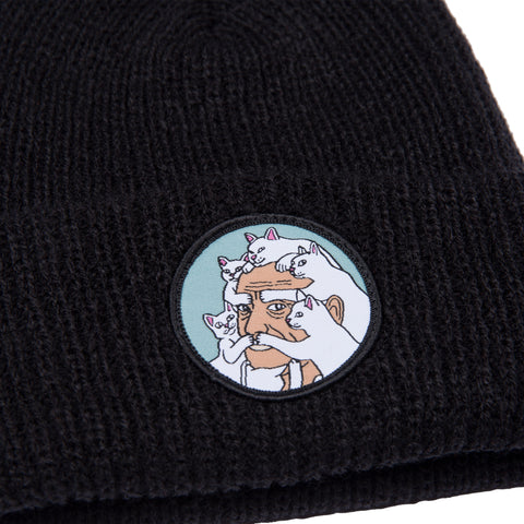 Nerm Beard Ribbed Beanie (Black)
