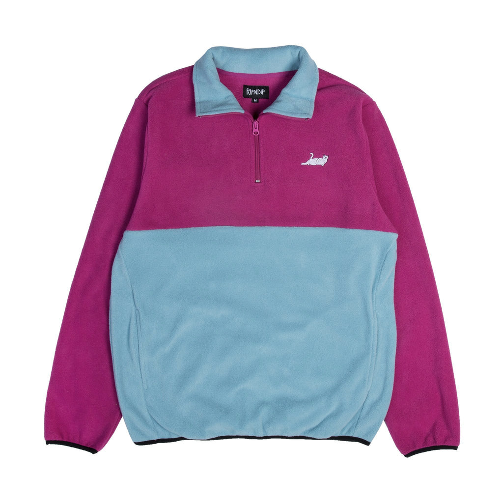 Castanza 3/4 Zip Up (Fuschia / Aqua)