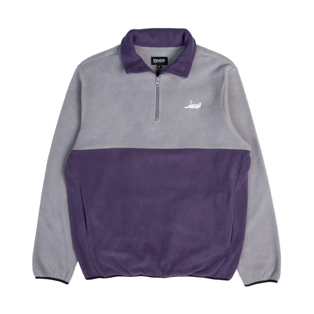 Castanza 3/4 Zip Up (Gray / Purple)