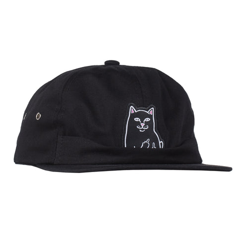 Lord Jermal 6 Panel Pocket Hat (Black)