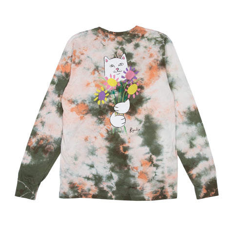 Flowers For Bae L/S Tee (Green / Pink Acid Wash)