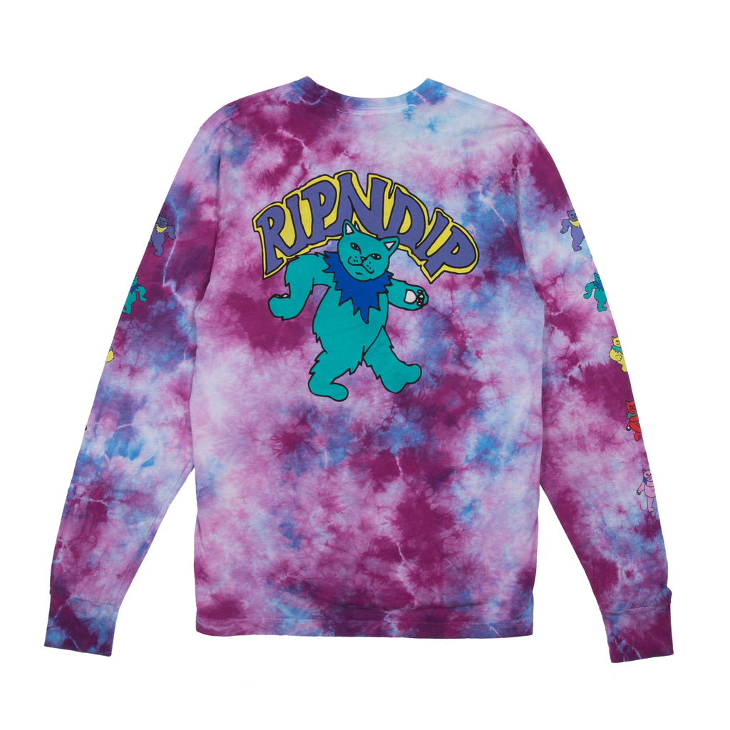 Dancing Nerm L/S Tee (Tie Dye Mineral Wash)