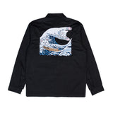 The Great Wave Military Jacket (Black)
