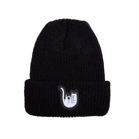 Falling For Nermal Ribbed Beanie (Black)