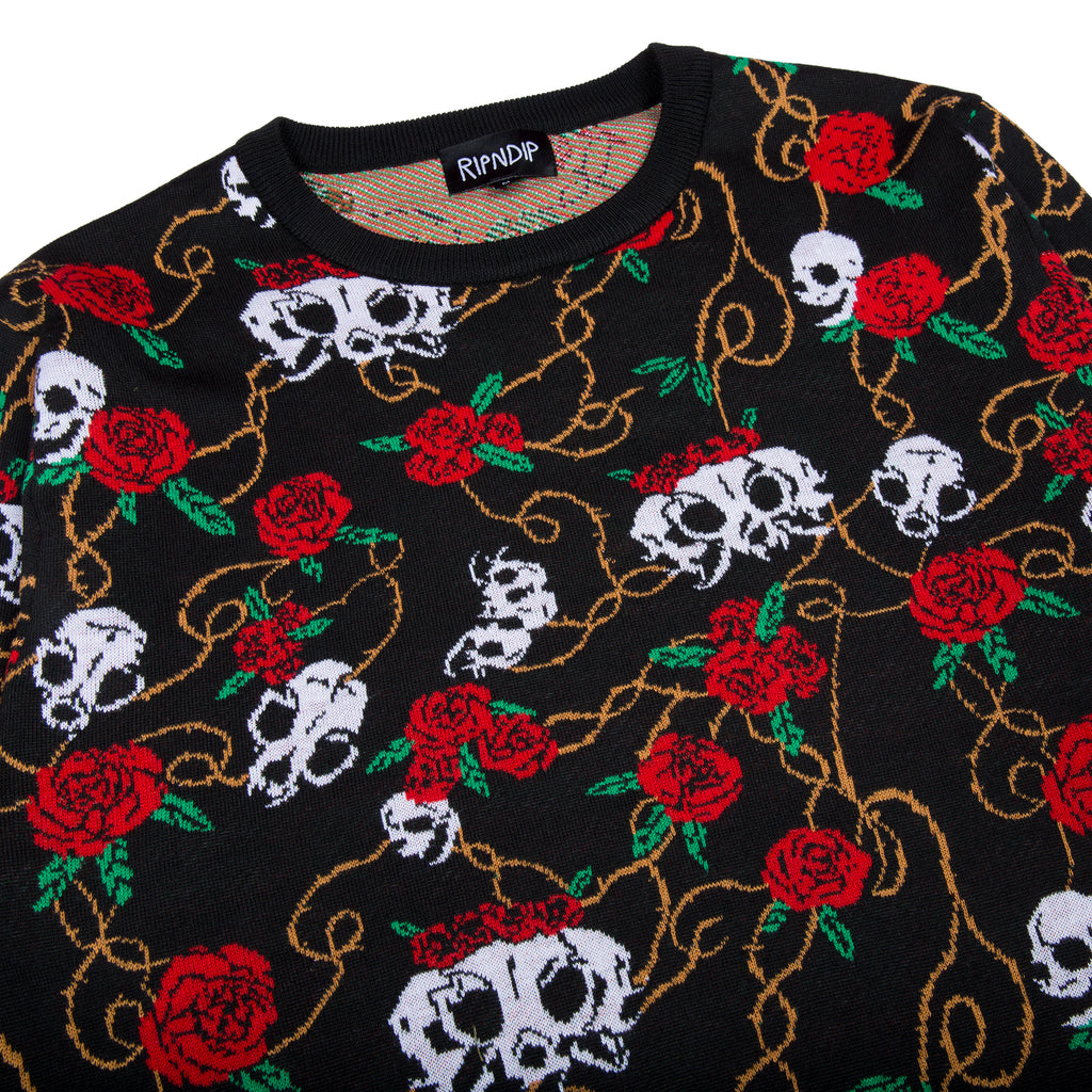 Dead Rose Knit Sweater (Black)