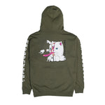 Zipperface Hoodie (Forest Green)