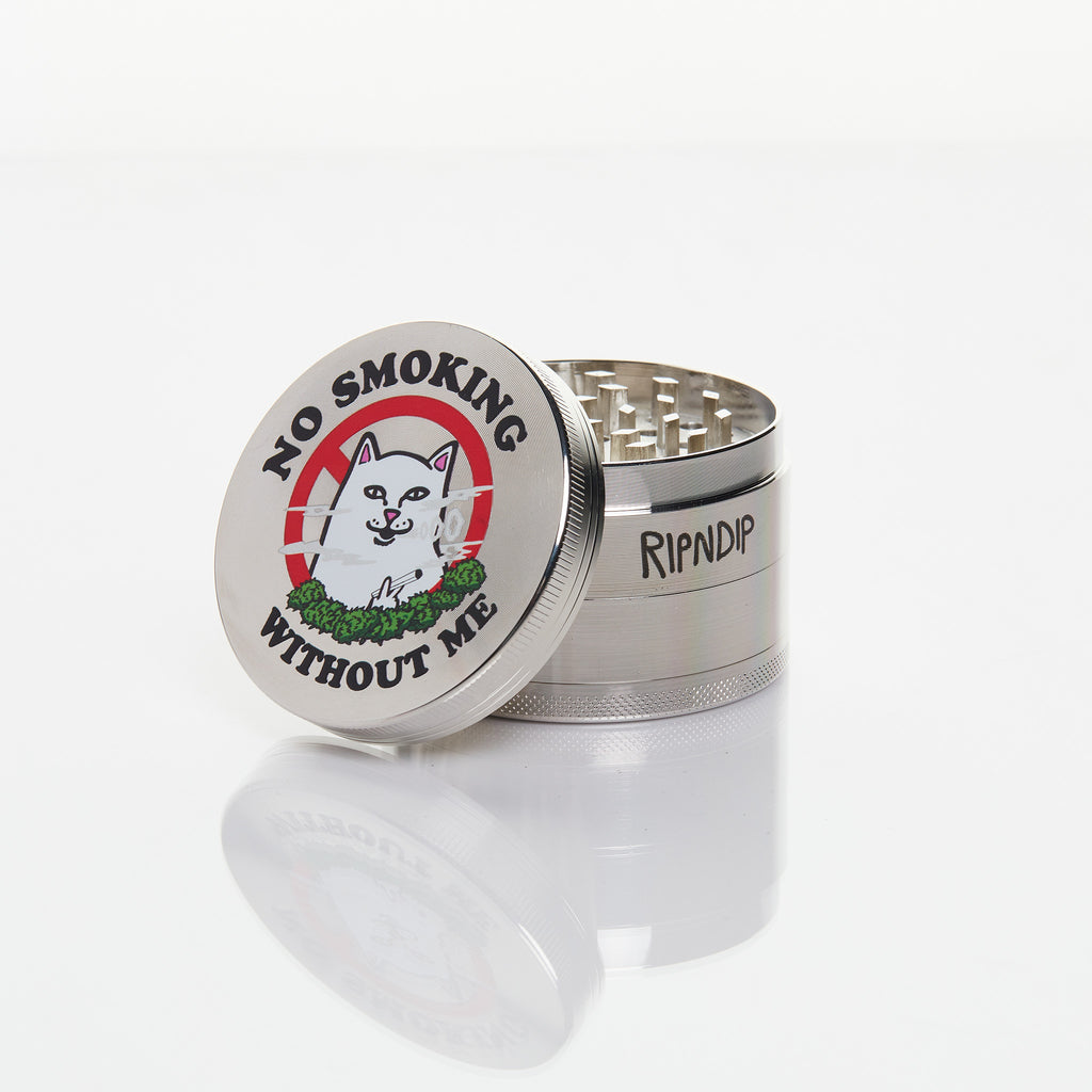 No Smoking Grinder (Silver)