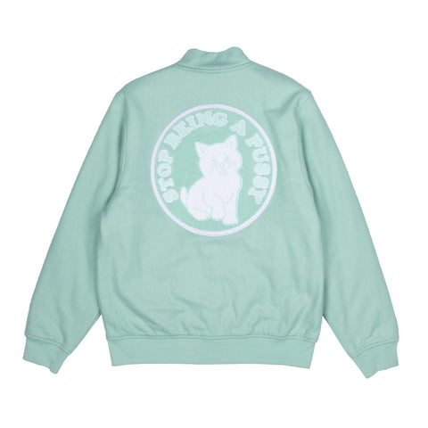 Stop Being A Pussy Varsity Jacket (Mint)