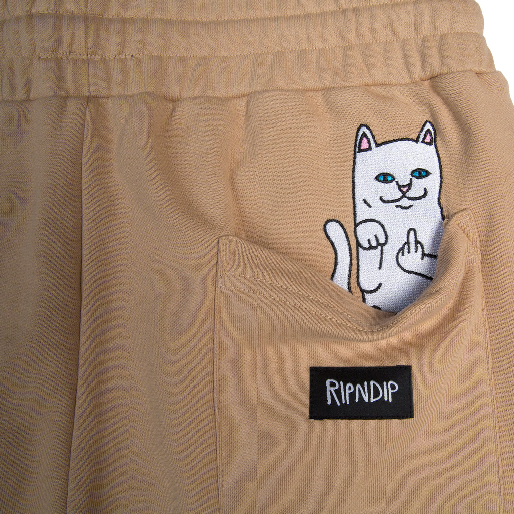 Peek A Nermal Sweat Shorts (Tan)