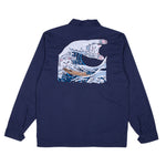The Great Wave Military Jacket (Navy Blue)