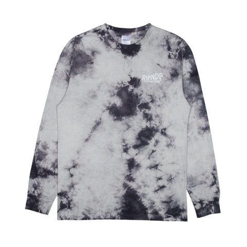 The Great Wave Of Nerm L/S Tee (Gray Tie Dye)