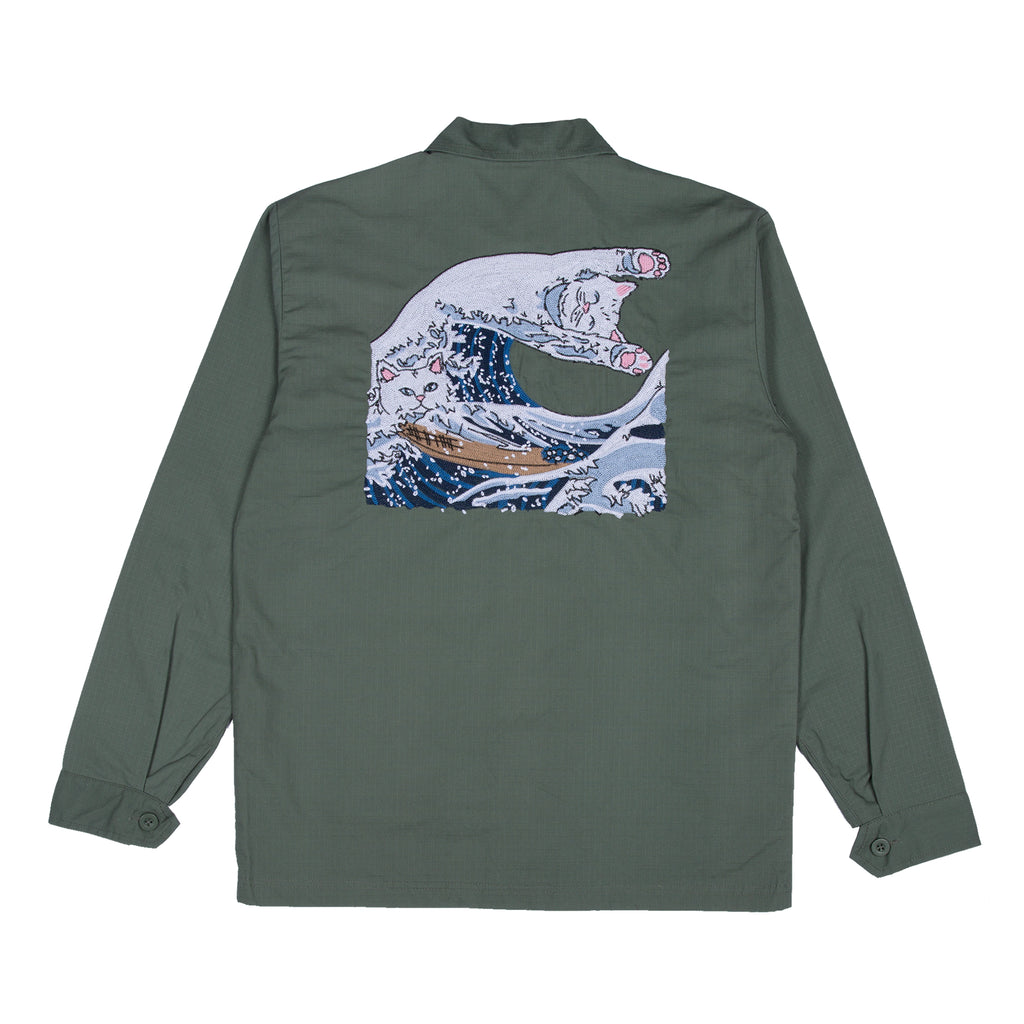 The Great Wave Military Jacket (Olive)