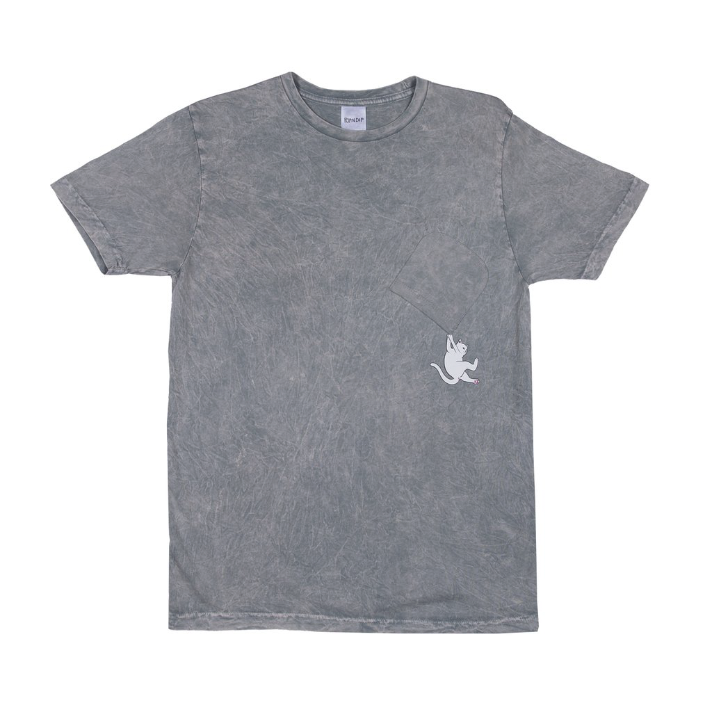 Hang In There Pocket Tee (Ash)