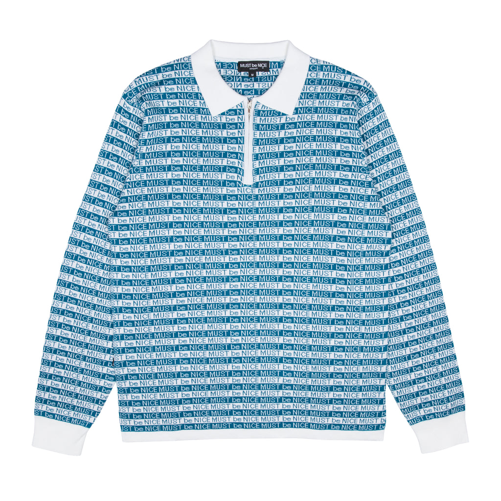 MBN 3/4 Zip Rugby (Blue / White)