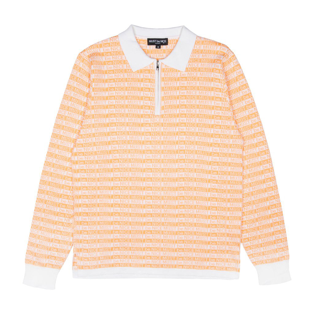 MBN 3/4 Zip Rugby (Coral / White)