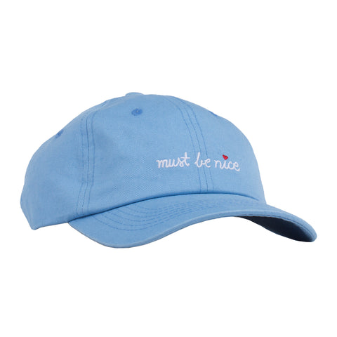 Must Be Nice Script Dad Hat (Blue)