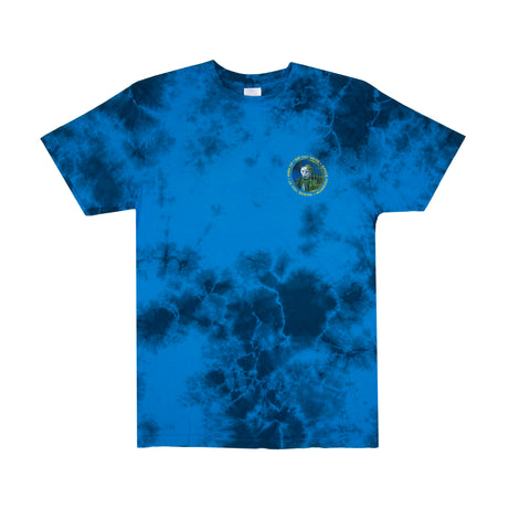 Space Program Tee (Blue Tie Dye)