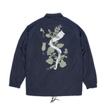 Botanical Satin Jacket (Blue)
