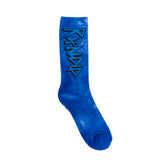 Retro Socks (Blue Tie Dye)