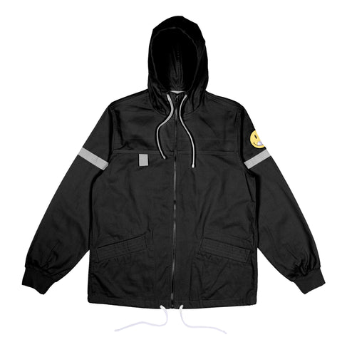 Everything Will Be Ok Cotton Fisherman Jacket (Black)